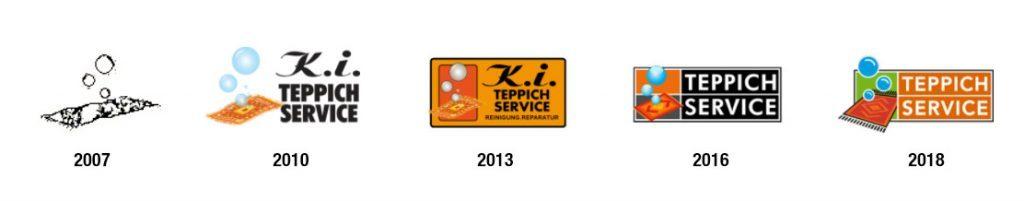 Logo Entwicklung - K.I. Teppichserivce
